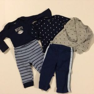 Lot of Baby Boy Carter's Onesies and Pants 6M